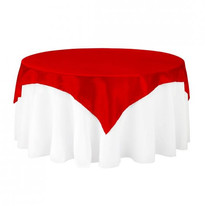 Red Satin Table Overlay
