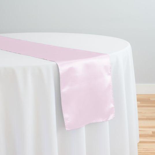 Light Pink Satin Table Runner