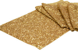 Gold Sequins Table Runner