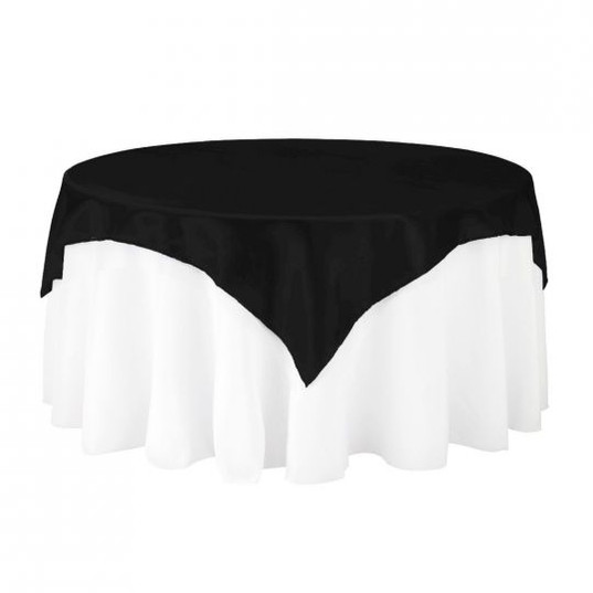 Black Satin Table Overlay