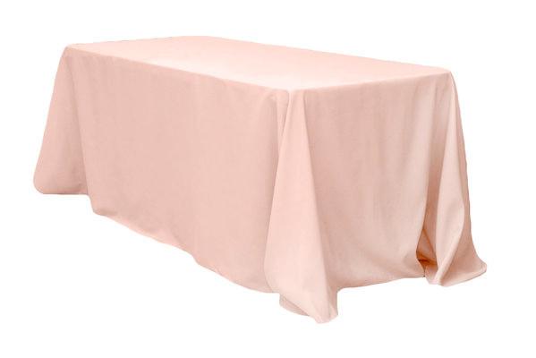 "90x156"" Blush Pink Tablecloth"