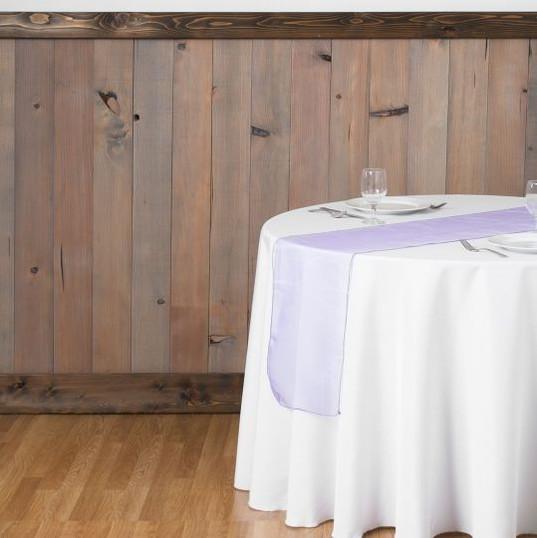 Lavendar Organza Table Runner