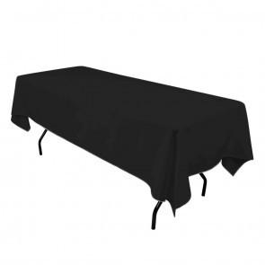 "60x102"" Black Tablecloth"