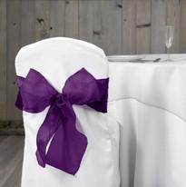 Purple Organza Chair Sash