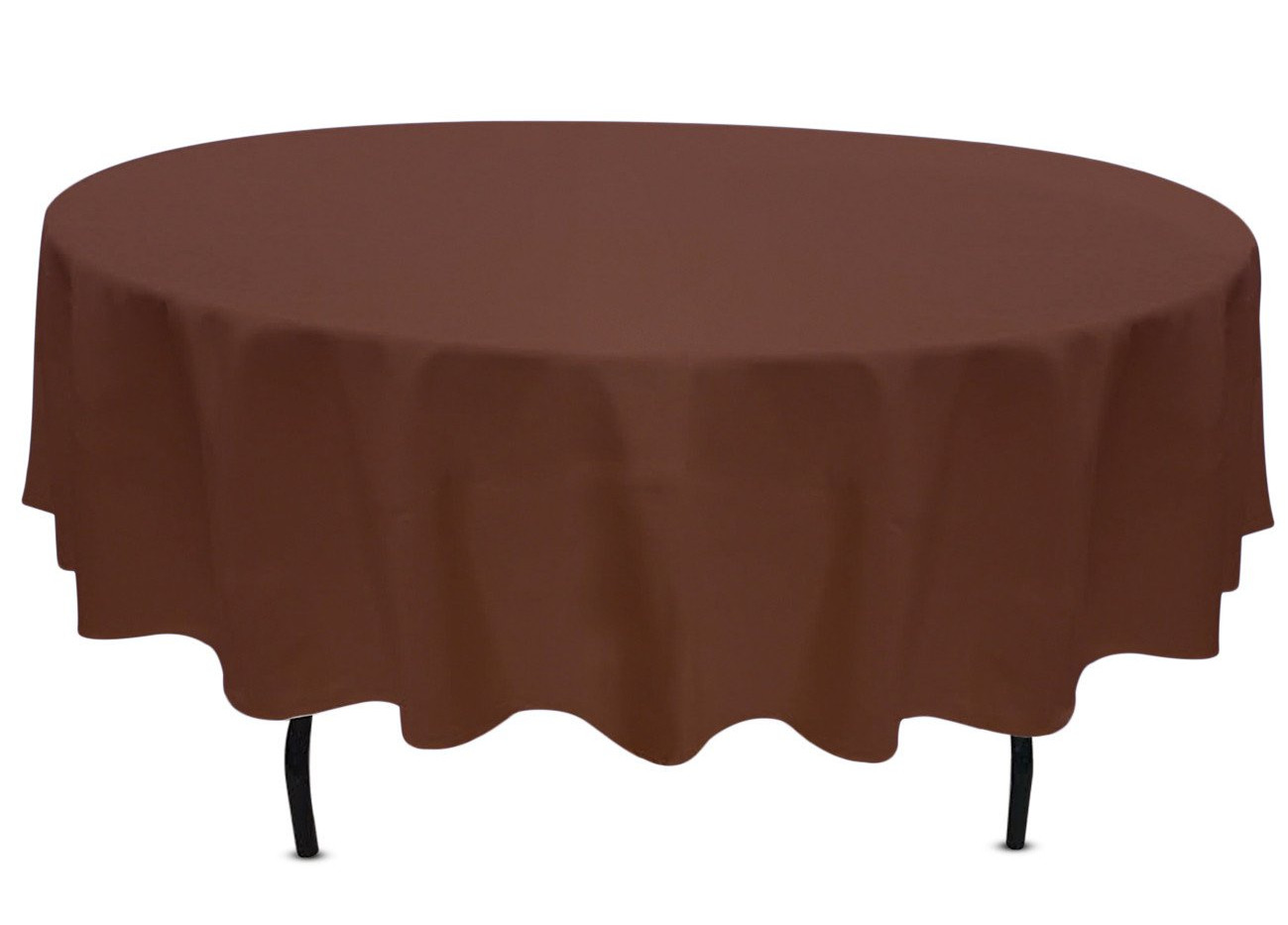 "90"" Round Brown Tablecloth"