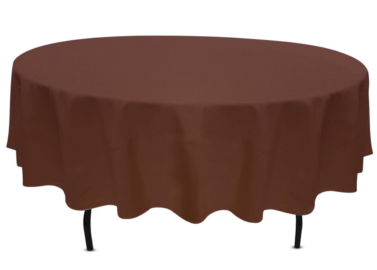 """90"""" Round Brown Tablecloth"""