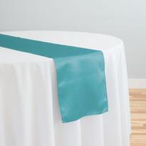 Turquoise Satin Table Runner