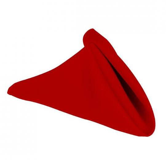 """20"""" Red Polyester Napkins"""