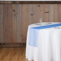 Royal Blue Organza Table Runner