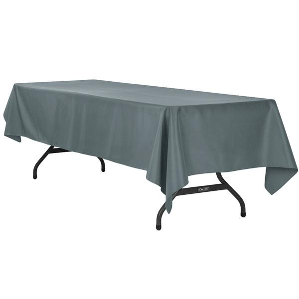 "60"" x 120"" Pewter/CharcoalTablecloth"