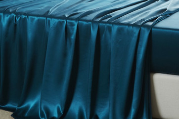 Teal Stain Curtain