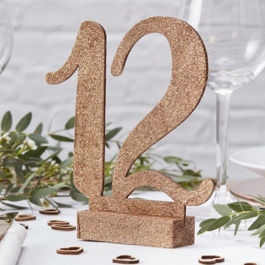 Rose Gold/Copper Table Number