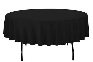 "90"" Black Round Tablecloth"