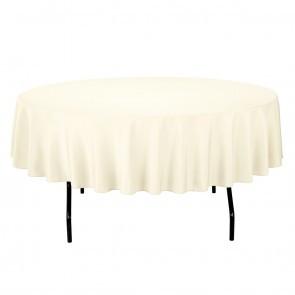 """90"""" Ivory Tablecloths"""