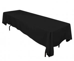 "60x126"" Black Tablecloth"