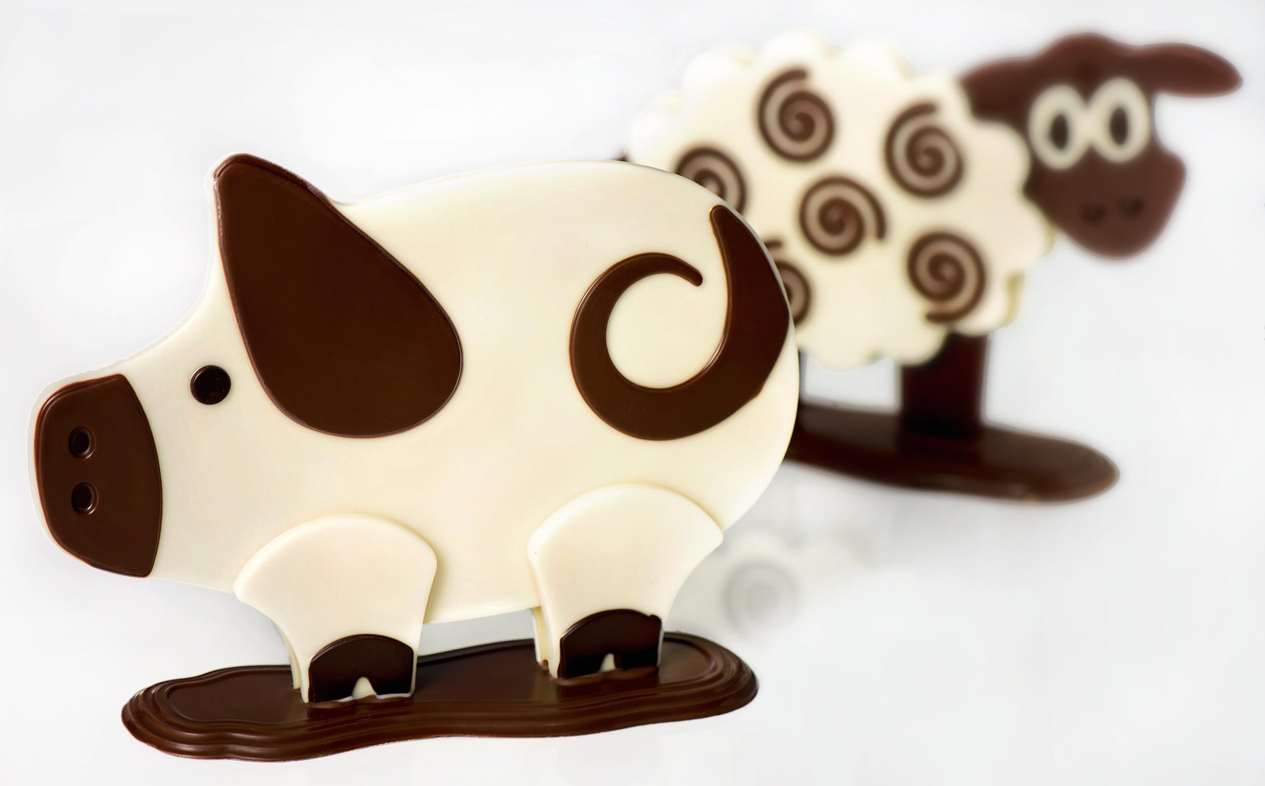 chocolat cochon mouton