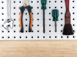 pegboard with wood