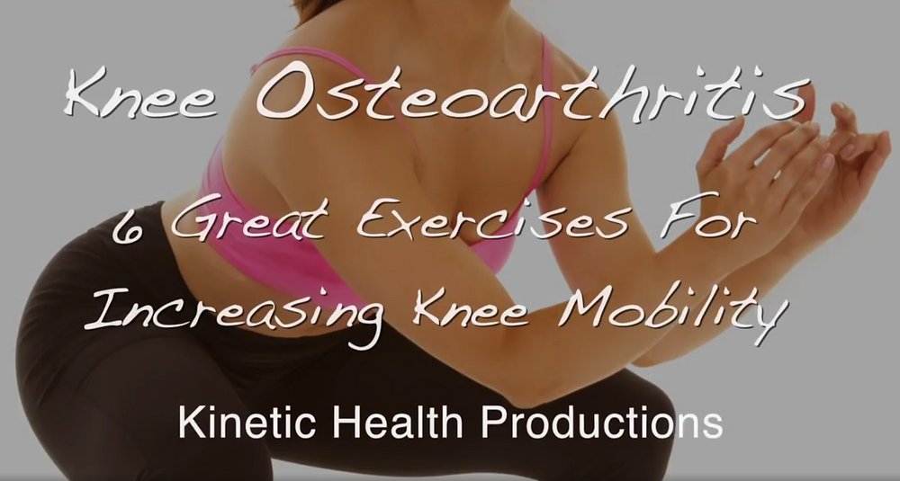 Great knee exercise for osteoarthritis and knee pain