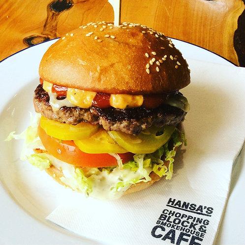 Hansa's Wagyu Burger and chips