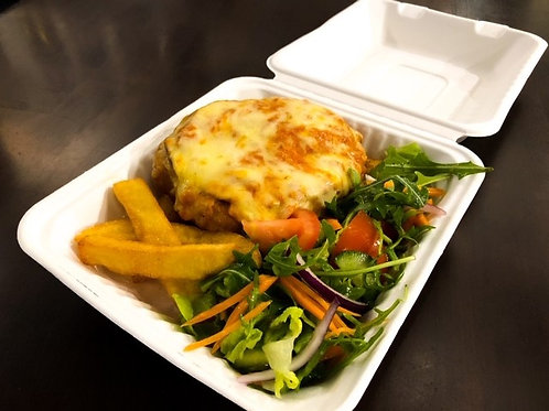 Chicken Parma with Chips