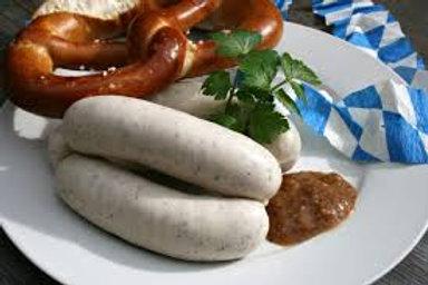 Weisswurst Sausages ($17.90kg)