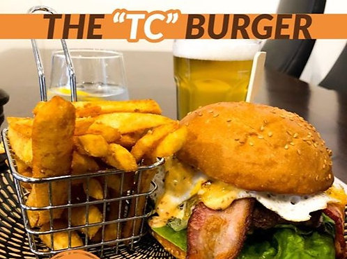 The 'TC' Burger and chips