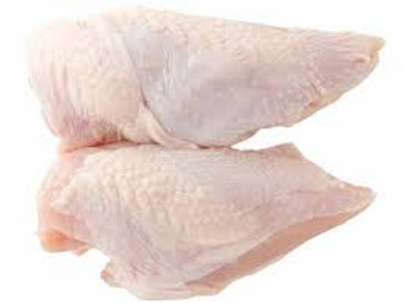 Chicken Breast Skin ON (2 pieces per pack)(450-650g)($10.99kg)