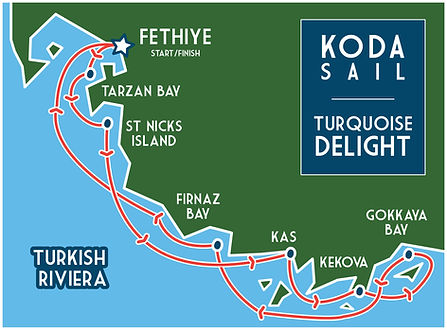 KODA SAIL Turquoise Delights map