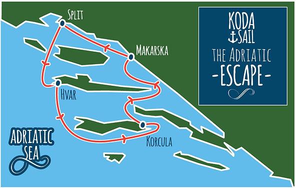 Croatia Island Hopping map