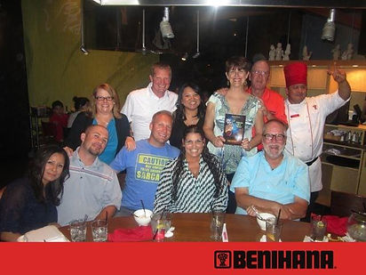 Prelude to a Quest Book Release Party and Benihana in Phoenix, Arizona