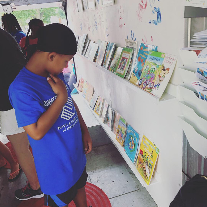 Last bookmobile of summer 2019!