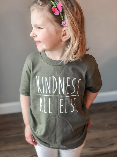 KIDS- Kindness Above All Else-Military Green