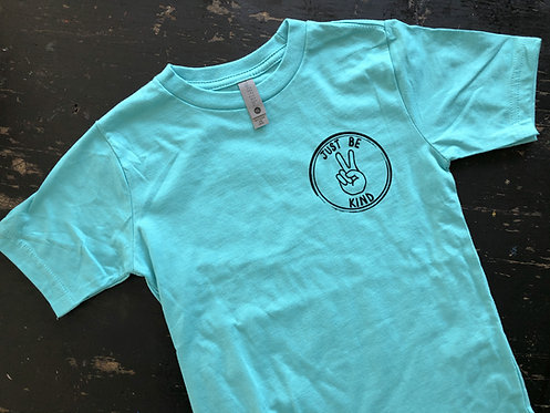 KIDS-Just Be Kind- Heather Teal Blue