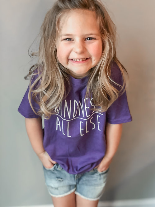 KIDS- Kindness Above All Else-Purple