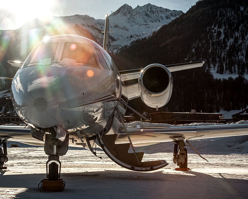 Parked at Samedan Engadin Airport over s