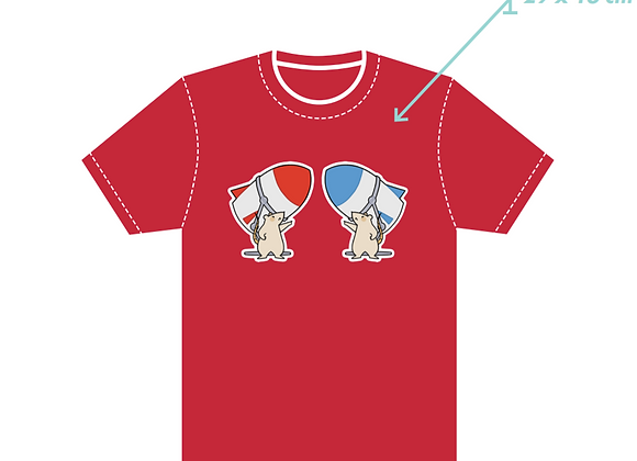 Red Dual Destruction T-shirt