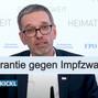 Herbert Kickl FPÖ fordert von Bundeskanzler Kurz Eidesstattliche Versicherung gegen Impfpflicht
