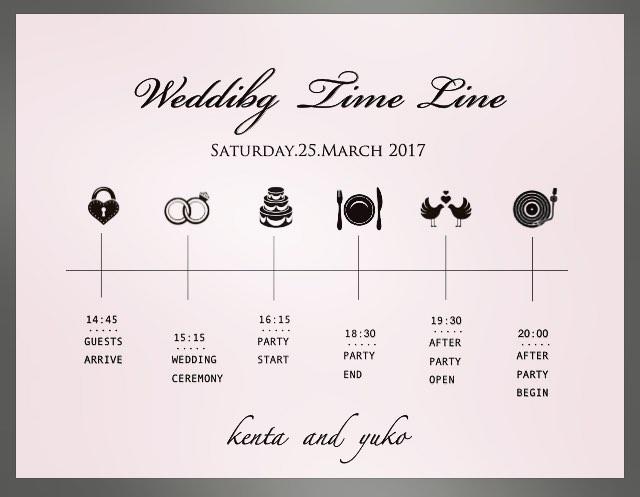 Wedding Time Line ご要望により、作成いたします。先日marryという花嫁準備サイトにご掲載いただきました*_ありがとうございます◡̈⃝#hair#cut#color#osaka#ko