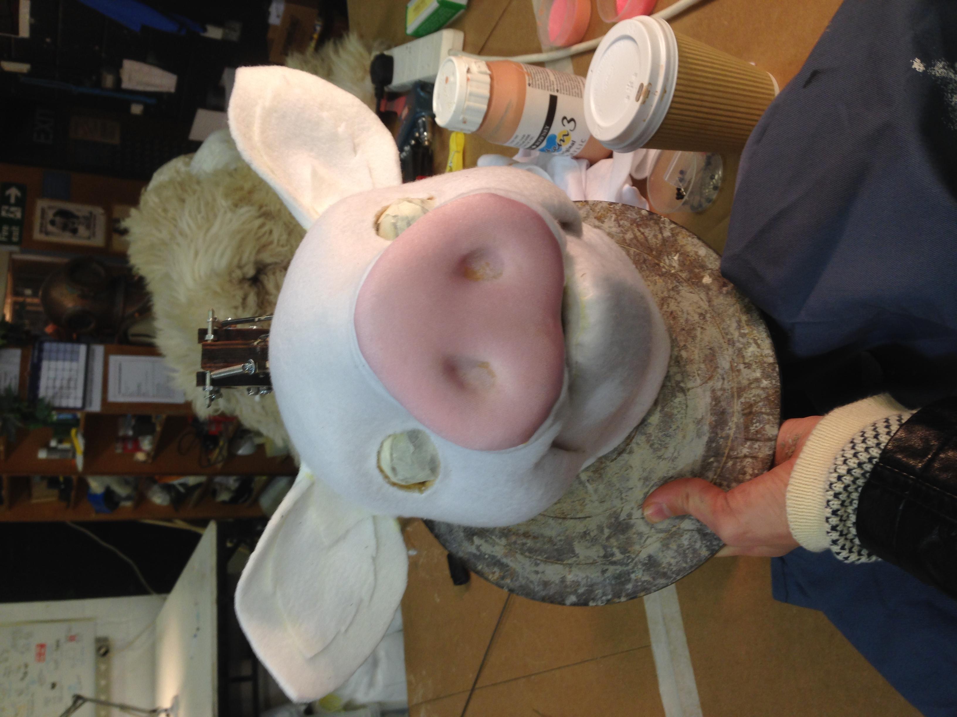 Pig Head, Pre-painting