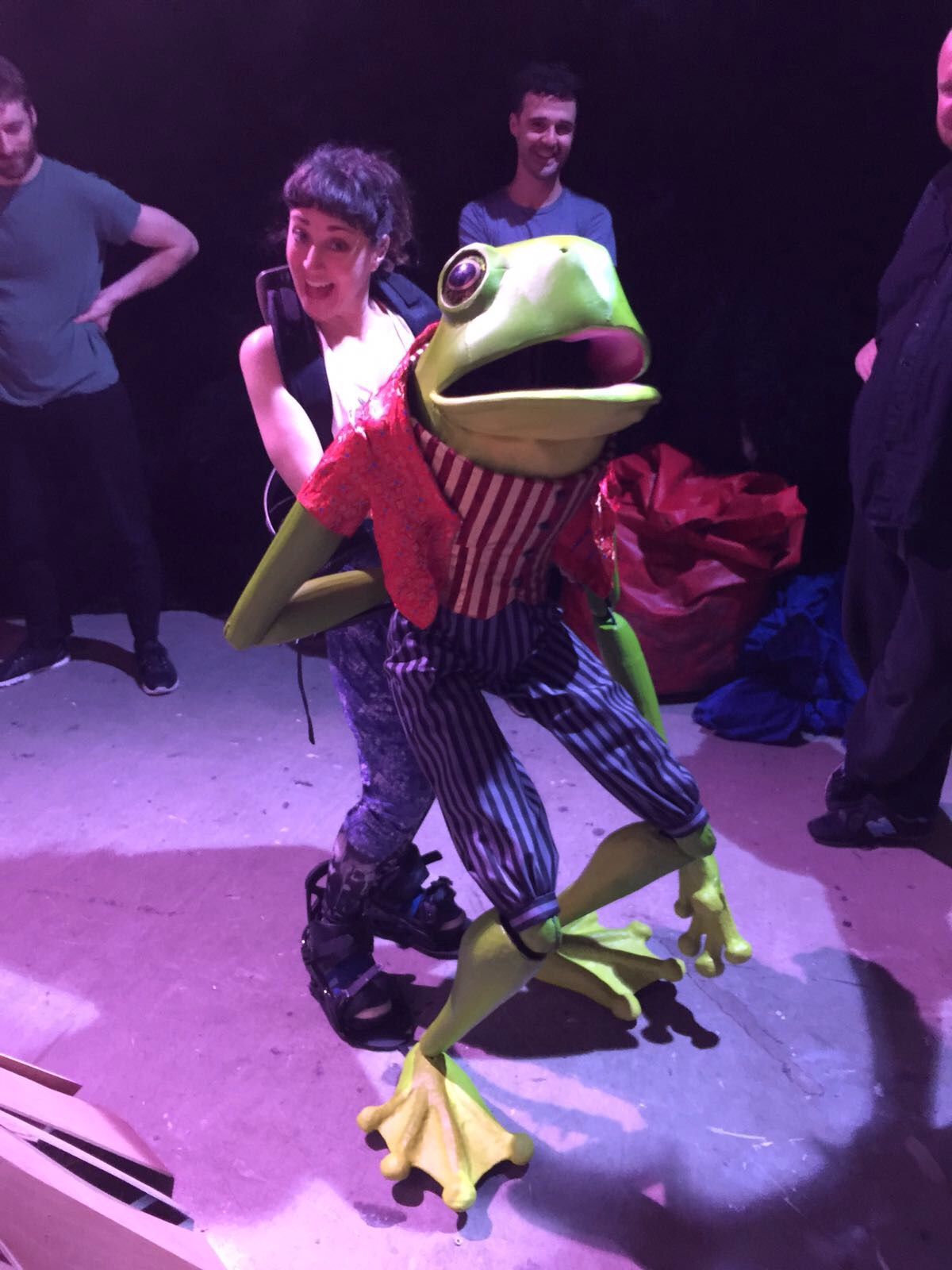 Frog Footman in Rehearsal