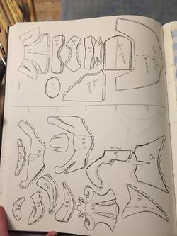 Pattern Pieces V-1