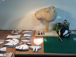 Head Sculpt and Plastizote Pattern