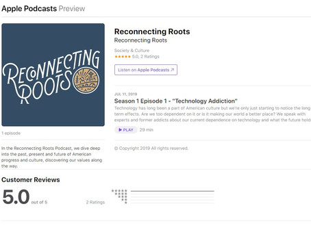 "Listen to the ""Reconnecting Roots"" podcast!"