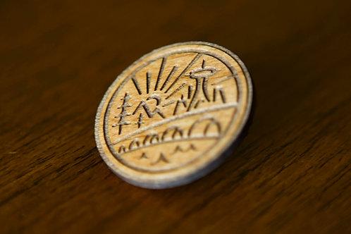Wooden Hope & History Pin