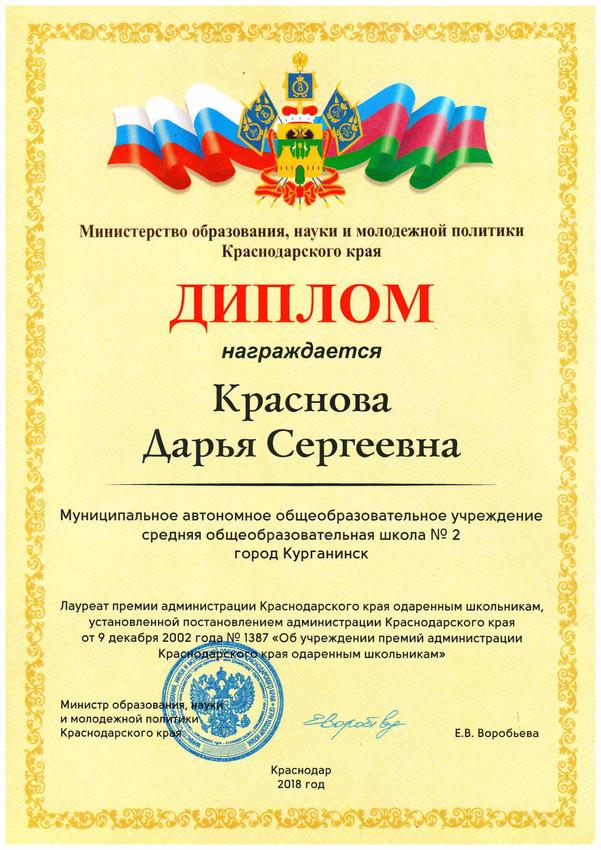 034 Диплом премия Красн кр