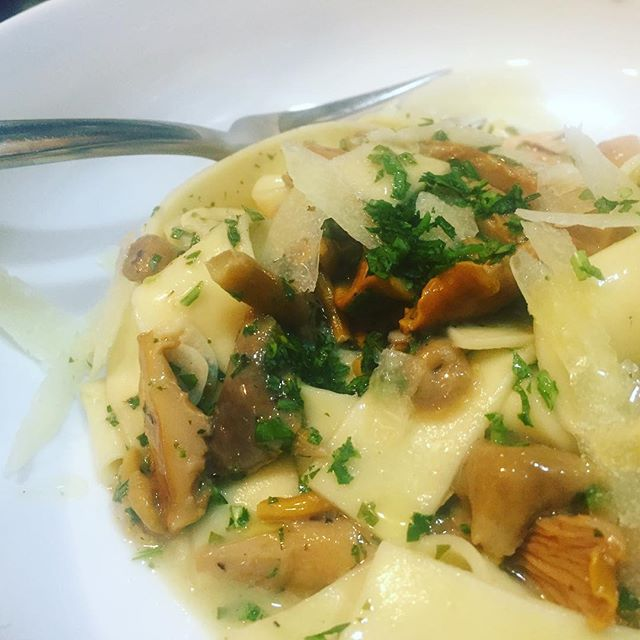 Chanterelle pappardelle #chanterelles #pappardelle #foundfood #mycology #thatwashingtongoodlife #for