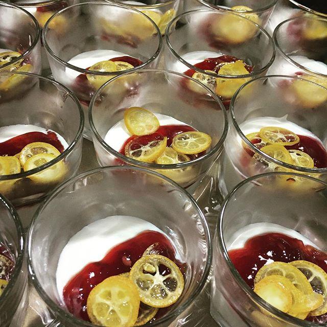 #dessert #melymato #pomegranate #kumquat #elsomcellars #food #chefjoebayley