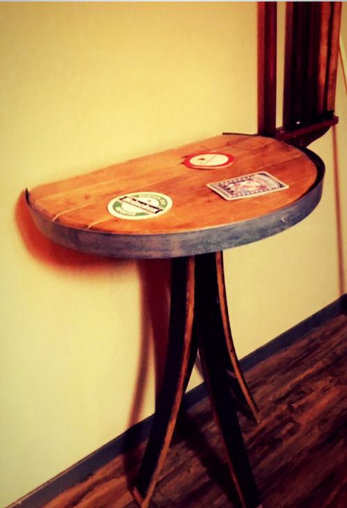 Wine Barrel End Table Roguebarrelwrxcom Home decor from reclaimed