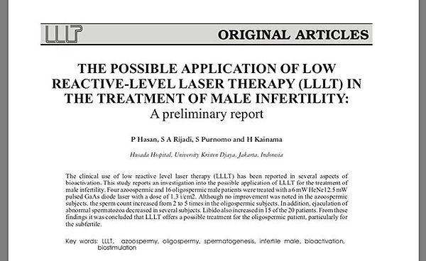 Laser those 🏀🏀's to improve sperm qual