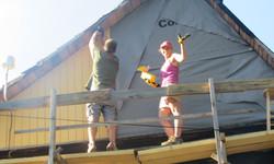 putting up siding